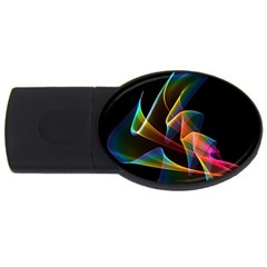 Crystal Rainbow, Abstract Winds Of Love  4GB USB Flash Drive (Oval)