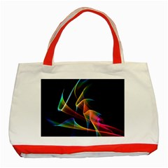 Crystal Rainbow, Abstract Winds Of Love  Classic Tote Bag (red)