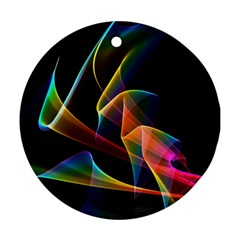 Crystal Rainbow, Abstract Winds Of Love  Round Ornament (Two Sides)