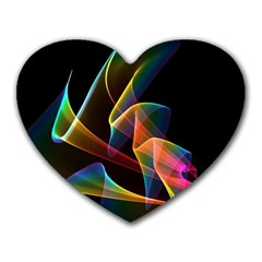 Crystal Rainbow, Abstract Winds Of Love  Mouse Pad (Heart)
