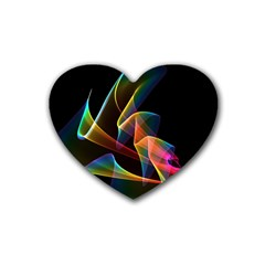 Crystal Rainbow, Abstract Winds Of Love  Drink Coasters 4 Pack (Heart)