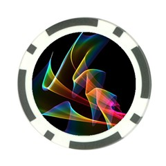 Crystal Rainbow, Abstract Winds Of Love  Poker Chip