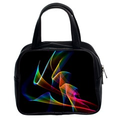 Crystal Rainbow, Abstract Winds Of Love  Classic Handbag (Two Sides)
