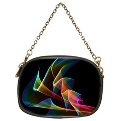 Crystal Rainbow, Abstract Winds Of Love  Chain Purse (two Sided)