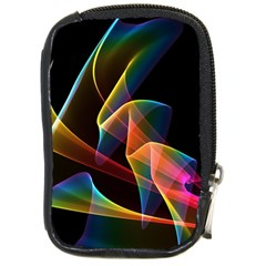 Crystal Rainbow, Abstract Winds Of Love  Compact Camera Leather Case