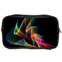 Crystal Rainbow, Abstract Winds Of Love  Travel Toiletry Bag (One Side)