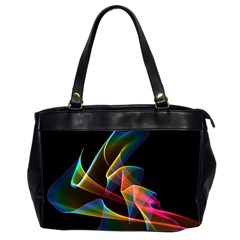 Crystal Rainbow, Abstract Winds Of Love  Oversize Office Handbag (Two Sides)