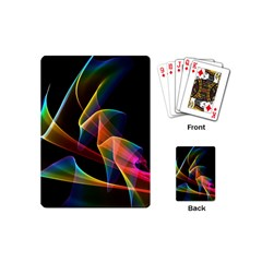 Crystal Rainbow, Abstract Winds Of Love  Playing Cards (Mini)
