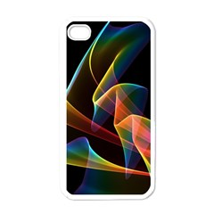 Crystal Rainbow, Abstract Winds Of Love  Apple Iphone 4 Case (white)