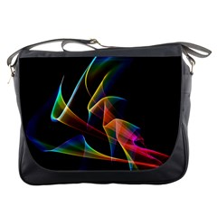 Crystal Rainbow, Abstract Winds Of Love  Messenger Bag