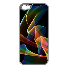 Crystal Rainbow, Abstract Winds Of Love  Apple iPhone 5 Case (Silver)