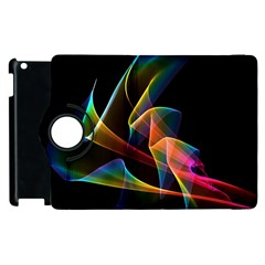 Crystal Rainbow, Abstract Winds Of Love  Apple iPad 2 Flip 360 Case