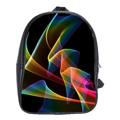 Crystal Rainbow, Abstract Winds Of Love  School Bag (XL)