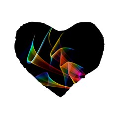 Crystal Rainbow, Abstract Winds Of Love  16  Premium Heart Shape Cushion