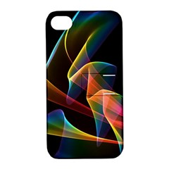 Crystal Rainbow, Abstract Winds Of Love  Apple Iphone 4/4s Hardshell Case With Stand
