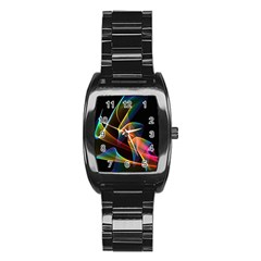 Crystal Rainbow, Abstract Winds Of Love  Stainless Steel Barrel Watch