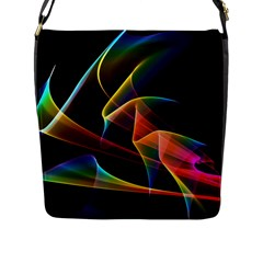 Crystal Rainbow, Abstract Winds Of Love  Flap Closure Messenger Bag (Large)