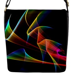 Crystal Rainbow, Abstract Winds Of Love  Flap Closure Messenger Bag (small)