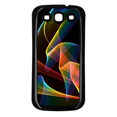 Crystal Rainbow, Abstract Winds Of Love  Samsung Galaxy S3 Back Case (Black)