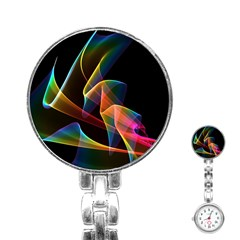 Crystal Rainbow, Abstract Winds Of Love  Stainless Steel Nurses Watch