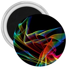 Dancing Northern Lights, Abstract Summer Sky  3  Button Magnet