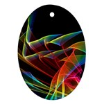 Dancing Northern Lights, Abstract Summer Sky  Oval Ornament Front