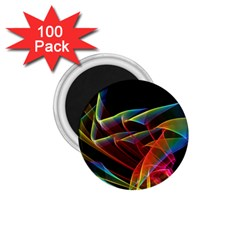 Dancing Northern Lights, Abstract Summer Sky  1 75  Button Magnet (100 Pack)