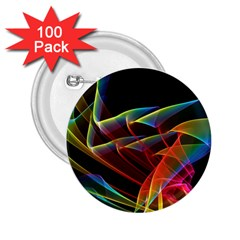 Dancing Northern Lights, Abstract Summer Sky  2.25  Button (100 pack)