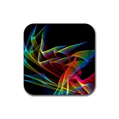 Dancing Northern Lights, Abstract Summer Sky  Drink Coaster (square)