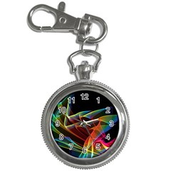 Dancing Northern Lights, Abstract Summer Sky  Key Chain Watch