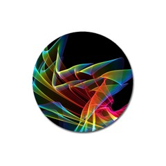 Dancing Northern Lights, Abstract Summer Sky  Magnet 3  (round)