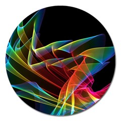 Dancing Northern Lights, Abstract Summer Sky  Magnet 5  (Round)