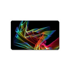 Dancing Northern Lights, Abstract Summer Sky  Magnet (Name Card)