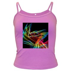 Dancing Northern Lights, Abstract Summer Sky  Spaghetti Top (Colored)
