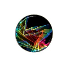 Dancing Northern Lights, Abstract Summer Sky  Golf Ball Marker (for Hat Clip)