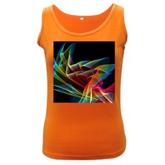 Dancing Northern Lights, Abstract Summer Sky  Women s Tank Top (Dark Colored)