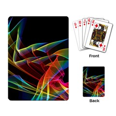 Dancing Northern Lights, Abstract Summer Sky  Playing Cards Single Design