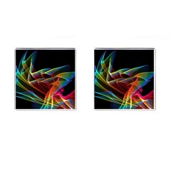Dancing Northern Lights, Abstract Summer Sky  Cufflinks (Square)