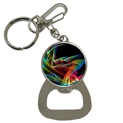 Dancing Northern Lights, Abstract Summer Sky  Bottle Opener Key Chain