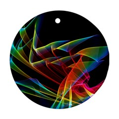 Dancing Northern Lights, Abstract Summer Sky  Round Ornament (Two Sides)