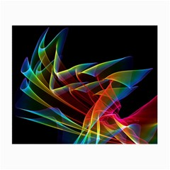 Dancing Northern Lights, Abstract Summer Sky  Glasses Cloth (small, Two Sided)