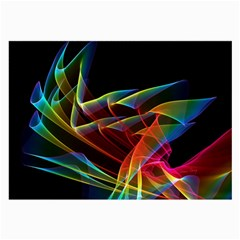 Dancing Northern Lights, Abstract Summer Sky  Glasses Cloth (Large)