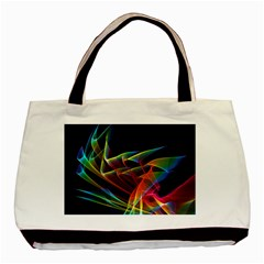 Dancing Northern Lights, Abstract Summer Sky  Twin Sided Black Tote Bag