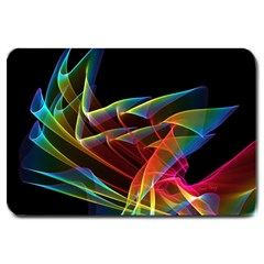 Dancing Northern Lights, Abstract Summer Sky  Large Door Mat