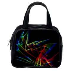 Dancing Northern Lights, Abstract Summer Sky  Classic Handbag (One Side)