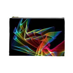 Dancing Northern Lights, Abstract Summer Sky  Cosmetic Bag (Large)