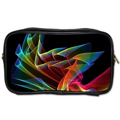 Dancing Northern Lights, Abstract Summer Sky  Travel Toiletry Bag (Two Sides)