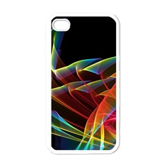 Dancing Northern Lights, Abstract Summer Sky  Apple Iphone 4 Case (white)