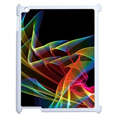 Dancing Northern Lights, Abstract Summer Sky  Apple iPad 2 Case (White)