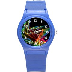 Dancing Northern Lights, Abstract Summer Sky  Plastic Sport Watch (Small)